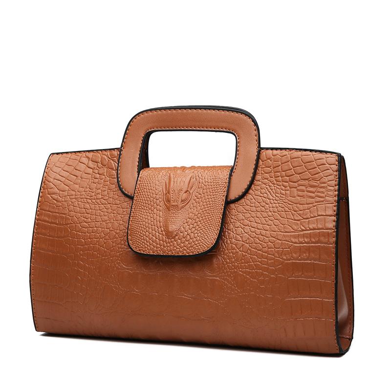 Crocodile Faux Leather Handbag 12