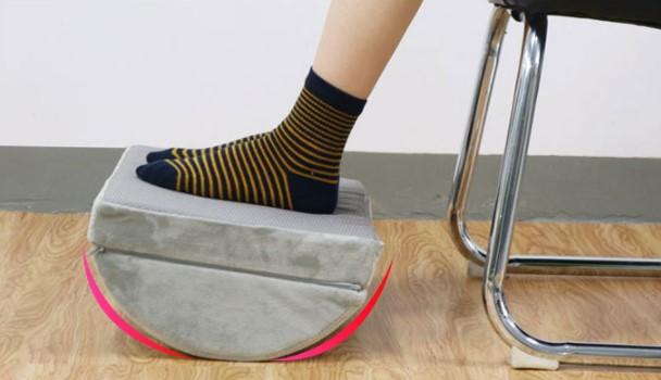repose pied semi cylindrique pour bureau