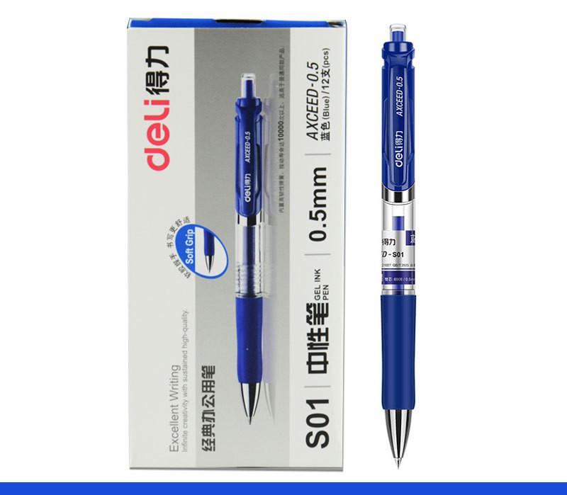 Deli-S01 Pens Black Blue Red