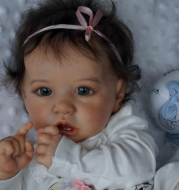 22 inches Realistic Sweet Cute Reborn Baby Girl Doll Kinley