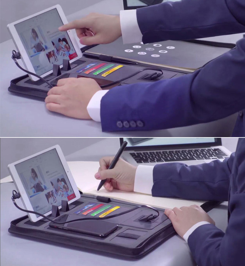 Business Document Holder With Power Bank 3
