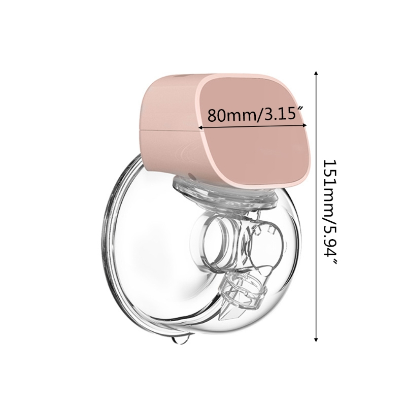 Portable Electric Breast Pump USB Chargable Silent Wearable Hands-Free Portable Milk Extractor