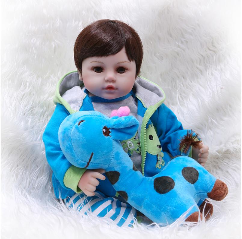 47CM Newborn Baby Dolls Silicone Soft Cloth