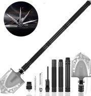 Military Folding Shovel Portable Survival Multitool Tactical Entrenching Tool Compact Backpacking for Hunting, Camping, Hiking, Fishing, Gardening, Car Emergency