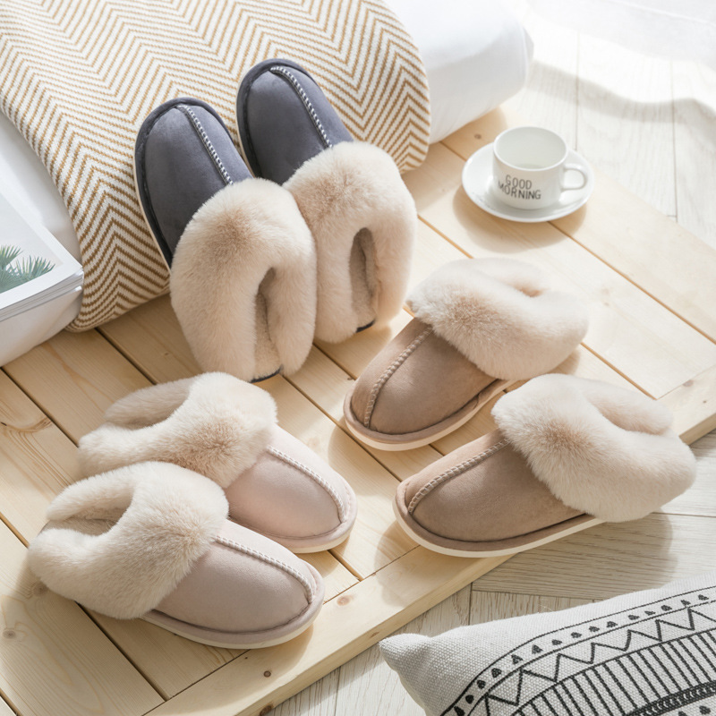 small Suede Cotton Slippers