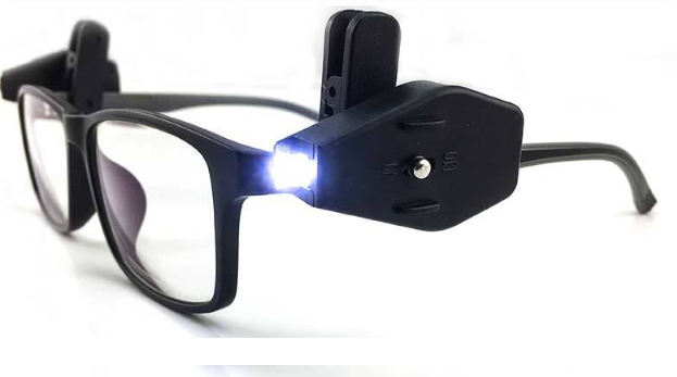 Mini Linterna LED Gafas Luz LED Ajustable Nueva Luz De Clip Para Gafas - Dileblue
