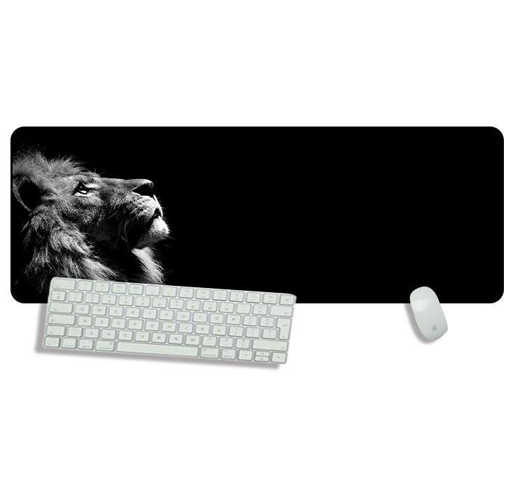 tapis de souris représentant un lion majestueux