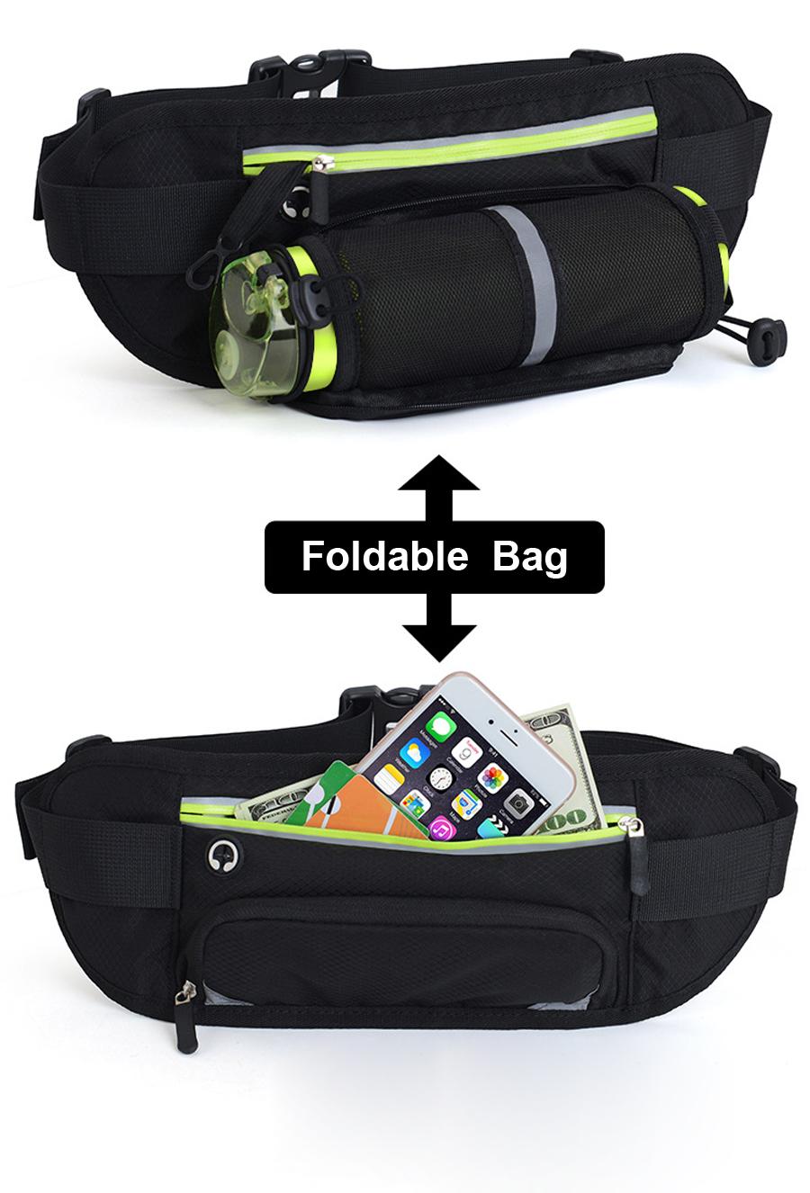 Running Waist Belt Bag With Water Bottle 14