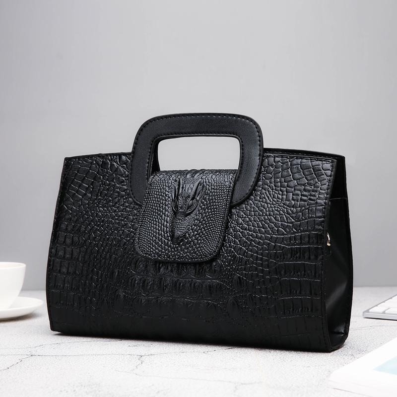 Crocodile Faux Leather Handbag 21