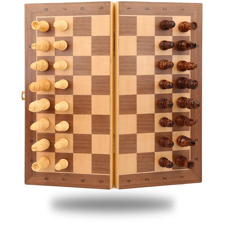 Jeu d'échecs en bois massif 3