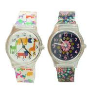 Floral quartz watch