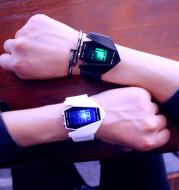 South Korea ulzzang luminous LED Harajuku trend student fashion multifunctional electronic watch sports men and women lovers