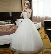 Double shoulder bridal dress