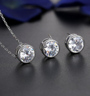 The bride and bride fashion accessories jewelry set all-match Pendant Earrings 2021 NEW