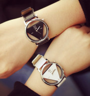 Fashion Double-sided Hollow Korean Trend Student Couple watch