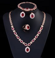 Big Brand Retro Zircon Necklace Set Chain Women