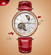 A number of cross-border derivative goods Damen Solon automatic mechanical watches leather waterproof hollow stars