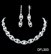 Two pieces of jewelry set, fashion bride jewelry set, electroplating alloy elegant jewelry factory direct sales