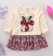 Autumn children female children 0-1-3-5 years old baby girl skirt dress long sleeved women age children skirt