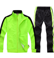 Children's adult light plate long sleeved football suit, men and women's jacket, sportswear, team uniforms custom made