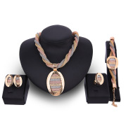 Four-piece Necklace  Earrings And Bracelets