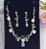 Necklace And Earrings Set Korean Wedding Jewelry