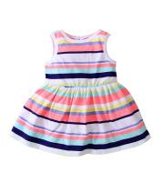 2021 new female baby infant dress summer stripe vest dress children all-match skirt