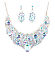 African, Middle East, Europe and the United States, color exaggerated bride necklace earrings set manufacturers direct sales