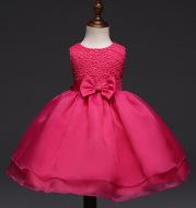 High grade baby wedding dress, baby girl dress, children hook flower, one year old full moon wine, wedding dress wholesale