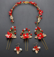Manufacturers selling Costume Jewelry Set Wedding Bride headdress wedding hair ornaments accessories wholesale