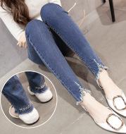 2021 new Korean women slim slim stretch jeans waist jeans and pants