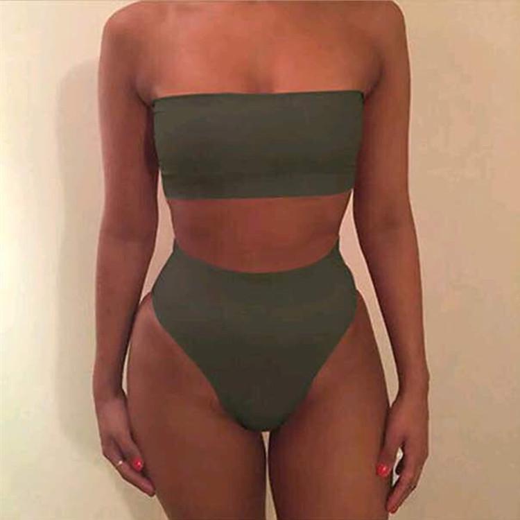 4560492931 594270752 Quick selling explosive edition, fashionable chest wrapped + triangle shorts, bikini split swimsuit, sportswear 6 color spot
