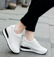 Net red increased casual white shoes