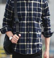 Flannel printed plaid shirt