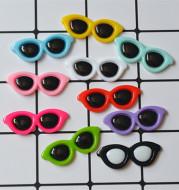 DIY round glasses resin accessories