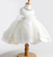 Korean girl baby baby full moon wine, birthday children's wedding dress, Princess fluffy dress