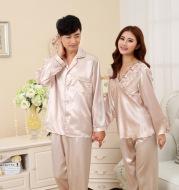 New lovers pajamas suit, men's imitation silk pajamas, boutique silk pajamas