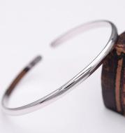 Glossy bracelet in sterling silver