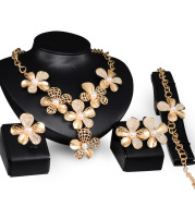 Gold Jewelry Exaggerated Alloy Four-piece Set