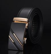 Men's leather two-layer leather belt Business Korean classic hot pants belt suit belt