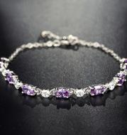 Silver Bracelet Amethyst