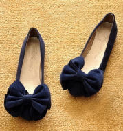 Women's bow flat shoes