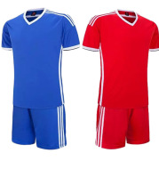 New foreign trade football suit, men's short sleeved training suit, light plate jerseys, children's adult games, sportswear customization