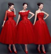 Lace upscale wedding evening dress