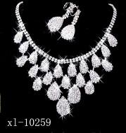 Gorgeous diamond necklace set wedding bride evening costume jewelry set to map samples