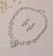 TL128 bridal jewelry, Korean exquisite necklace set, alloy diamond sleeve chain, bridal wedding accessories wholesale