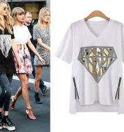 Round neck casual bottoming shirt top