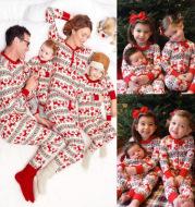 Christmas Parent-Child Suit Printing Home Service Pajamas Two-Piece