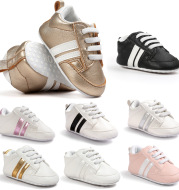 Baby Boy Girl Moccasins Shoes Infant PU Leather Non-slip Soft Newborn Sneakers