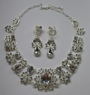 [factory direct selling] bridal jewelry, bridal two piece necklace, earring set, water glass accessories